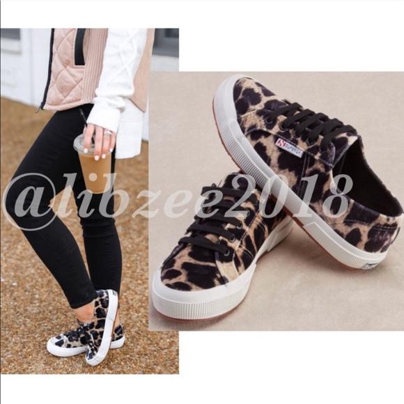 Velvet Leopard Superga 275 Sneakers Nib